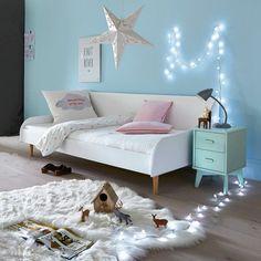 Chambre ado enfant rose gris chambres d 39 enfants for Petite banquette lit