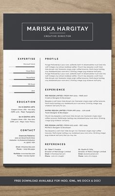 Free 31 Best Resume Templates For 2019 - CreativePentool Best Resume Template, Creative Resume Templates, Resume Cv, Free Resume, Cv Words, Graphic Design Resume, Mariska Hargitay, Microsoft Word, Creative Director