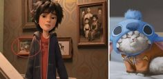 In Big Hero 6 in the aunt's stairwell, there's a picture of a cat dressed up as Stitch. Disney Fun Facts, Disney Jokes, Funny Disney Memes, Cute Disney, Disney Cartoons, Disney And Dreamworks, Disney Pixar, Walt Disney, Disney Characters