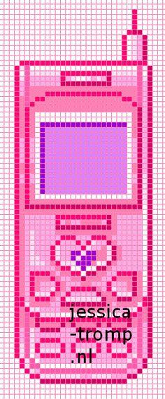 Cell phone- mobile -handy - hama perler beads pattern