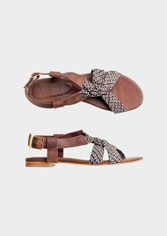 Shibori Knotted Sandal at Toast UK
