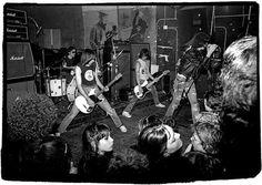 The Ramones play the Blitz Benefit at CBGB, 1978.