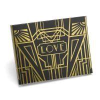Art Deco Gold Foil Guest Book - Personalized