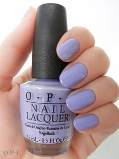 OPI - You're Such a BudaPest is a lilac-periwinkle shade with a very faint amount of shimmer. Opi Nail Colors, Purple Nail Polish, Opi Nail Polish, Opi Nails, Nail Polishes, Cute Nails, Pretty Nails, Budapest, Nail Lacquer