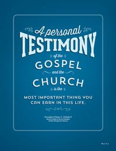 how to make a testimony in church