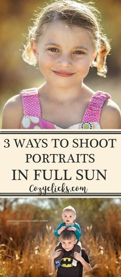 3 Simple Tips for Shooting in Full Sunlight Are you a new photographer unsure of how to shoot portraits in full sun? Learn how to take pictures when it is really bright outside. Read here! Photography Settings, Photography Lessons, Modern Photography, Photoshop Photography, Outdoor Photography, Photography Business, Photography Tutorials, Light Photography, Digital Photography