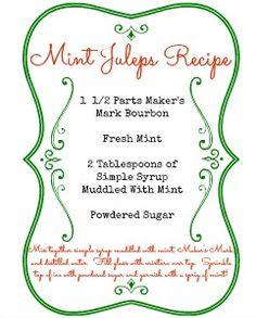 Mint Juleps Recipe yum!! - Mom 4 Real
