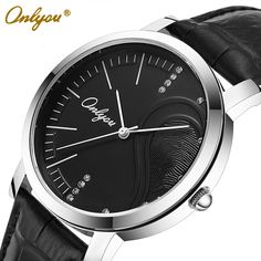 Find More Lover's Watches Information about New Fashion Brand Quartz Watch Lovers Watches Women Genuine Leather Brand Buckle Men Watches Round Dial Onlyou 8781,High Quality watch multifunction,China watch frame Suppliers, Cheap watch walkie from ONLYOU Watched on Aliexpress.com