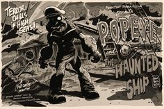 """Popeye Art Show, """"Strong to the Finich!"""""""