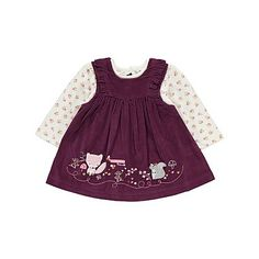 Gilet, Corduroy Dress, Top and Tights Set | Baby | George