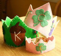 http://frontierdreams.blogspot.com/2009/05/wool-felt-birthday-crown-tutorial.html