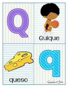 Tarjetas de abecedario para aprender las letras Pre Kindergarten, Kindergarten Worksheets, Learning Numbers Preschool, Alphabet Letters Images, Abc Poster, Computer Class, Science For Kids, Learning Spanish, Kids And Parenting