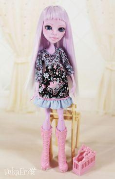 Monster High Custom Repaint Art doll OOAK Operetta by FukaEriLove