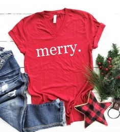 Check out our cute christmas shirt selection for the very best in unique or custom, handmade pieces from our shops. Cute Christmas Shirts, Christmas T Shirt Design, Merry Christmas, Christmas Tops, Cheer Shirts, Mama Shirt, Diy Shirt, Shirt Style, Shirt Designs