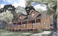Mountain-rustic-house-plans having Plan no. 12-786 whose details are following: Country Style House Plans - 1725 Square Foot Home , 2 Story, 3 Bedroom and 2 Bath, Garage Stalls by Monster House Plans.