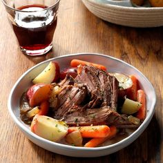 Looking for amazing Crock-Pot freezer meals to make in your slow cooker? Here are our favorite freezer-friendly slow-cooker recipes. Pot Roast Recipes, Meat Recipes, Slow Cooker Recipes, Crockpot Recipes, Cooking Recipes, Crock Pot Roast Beef, Boneless Chuck Roast Recipes, Slow Cooker Pot Roast, Venison Roast