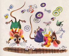 Richard Scarry 'Mouse's House' written by Kathryn and Byron Jackson (1949)