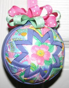 Easter Bouquet Spring Quilted Ornament by WreathsByKari on Etsy, $10.00