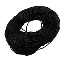 5M Genuine LEATHER CORD 3mm Black PH20K (Bracelet, Necklace, Jewellery)