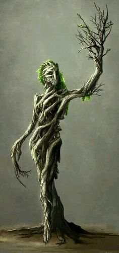 Dryad - MonsterSquad by Neverheidae on DeviantArt / tree creature / fantasy Fantasy Kunst, Fantasy Art, Elves Fantasy, Fantasy Queen, Mythological Creatures, Humanoid Mythical Creatures, Magical Creatures, Dark Creatures, Forest Creatures