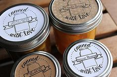 """oooh I like these labels a whole lot! // Free printable labels to """"spice"""" up your canning gifts Canning Jar Labels, Mason Jar Lids, Mason Jar Crafts, Canning Recipes, Jar Gifts, Food Gifts, Jam Label, Canned Food Storage, Home Canning"""