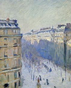 Gustave Caillebotte (1848-1894) Boulevard Haussmann in the snow [1880] Boulevard Haussmann bei Schnee [1880]