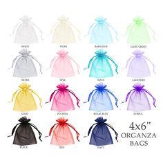 b78c258ee Potential packaging - organza bags in a wide variety of colors Bolsitas