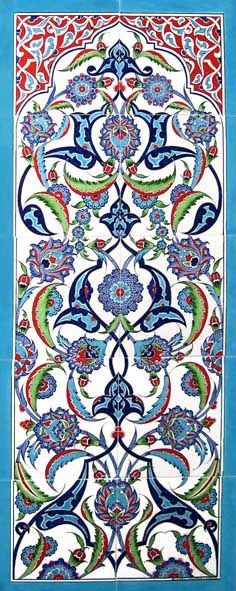 Find Here - Hard to find traditional ceramic Turkish tiles with splendid floral designs that create the perfect backsplash for any wall in your home. Turkish Decor, Turkish Design, Turkish Art, Turkish Tiles, Moroccan Design, Portuguese Tiles, Moroccan Tiles, Islamic Tiles, Islamic Art