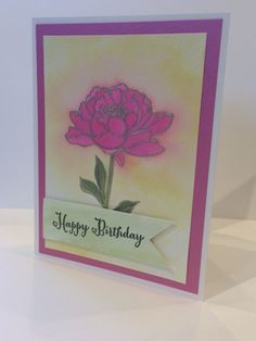 Happy Birthday  Watercolor Floral by BellissimaCardshop on Etsy