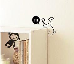 4 Light Switch Sticker / Wall Decal Sticker / Panda by DubuDumo