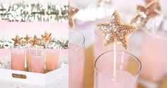Top your drinks with these sequined star stirrers. 51 DIY Ways To Throw The Best New Year's Party Ever Nye Party, Gold Party, Party Time, Purple Party, Glitter Party, Gold Glitter, Diy New Years Party Decorations, New Years Eve Party, Princess Party