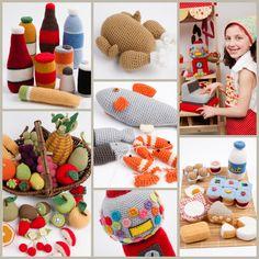 mosaique le panier de la marchande' / Amazing! crochet staff for kid's kitchen / kid's market