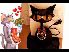 Haz un hermoso gato decorativo con Botella. RECICLAJE. Halloween - Gato negro. DIY. - YouTube