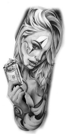 Tattoos Discover 70 Photos of Men& Forearm Tattoos Photos and Tattoo Design tattos Tattoo Girls Skull Girl Tattoo Girl Face Tattoo Clown Tattoo Girl Tattoos Hand Tattoos For Guys Trendy Tattoos Gangsta Tattoos Chicanas Tattoo Gangster Tattoos, Dope Tattoos, Forearm Tattoos, Hand Tattoos, Body Art Tattoos, Tattoos For Guys, Chicano Tattoos Gangsters, Faith Tattoos, Music Tattoos