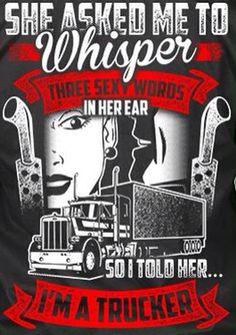 Whisper Truck Drivers, Trucks, Tell Her, Whisper, Garage, Hush Hush, Carport Garage, Garages, Truck