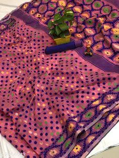 Sarees Trendy Cotton Jamdani Women's Saree  *Fabric* Saree - Cotton Jamdani, Blouse - Cotton Jamdani  *Size* Saree Length - 5.50 Mtr , Blouse Length - 0.80 Mtr  *Color* Pink  *Work* Jamdani This Idol Is Only For Catalog Purpose  *Note* This Flower Vase Is Only For Catalog Purpose  *Sizes Available* Free Size *   Catalog Rating: ★4.1 (173)  Catalog Name: Free Mask Vardaniya Printed Jamdani Cotton Sarees With Polka Dot CatalogID_360388 C74-SC1004 Code: 3701-2664643-