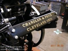 DeFelice Engineering Inc. - Chandler & Price Pilot Printing Press