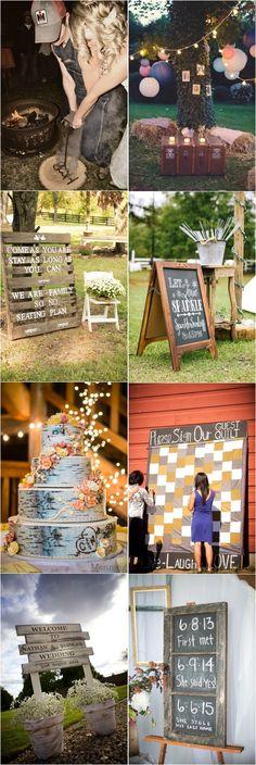 rustic country wedding decor ideas / http://www.deerpearlflowers.com/country-rustic-wedding-ideas/