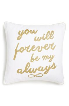 Cute 'Forever Always' accent pillow