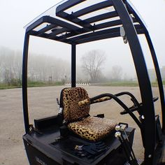 What forklift wouldn't look better with a leopard skin seat?