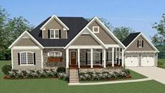 This new Cottage home design, the Shannon Hill house features 3 BR and 2.5 BA and a quaint front porch.
