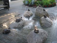 Seattle Water Fountain | Water in the Garden – Fountains, Birdbaths and a Waterfall