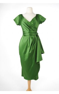 Ava Dress in Jade Green by Pinup Couture | Pinup Girl Clothing