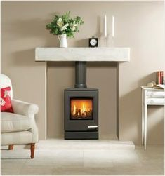 The is the smallest of the new contemporary gas stoves from Yeoman. Underneath the smooth, modern lines of the lies a powerful, high efficiency stove Small Gas Fireplace, Gas Stove Fireplace, Wood Burner Fireplace, Paint Fireplace, Freestanding Fireplace, Living Room With Fireplace, Fireplace Ideas, Gas Wood Burner, Small Log Burner