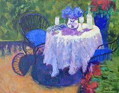 """Deux, S'il Vous Plait by Roxanne Steed Oil ~ 16"""" x 20"""""""