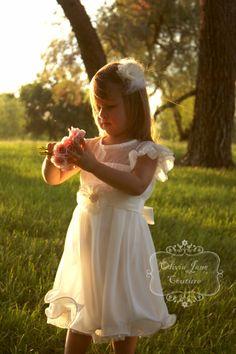 The Grace Flower Girl Dress. Flower girl by OliviaJaneCouture