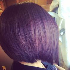 Hair by StephJ! I love bobs! They are my favorite haircut!! Also gorgeous dark brown/violet color. #SoColor #ColorSync #Matrix @Christopher Lipp @Tina Giger 75