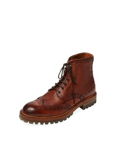 Brogue Leather Boot by Antonio Maurizi at Gilt