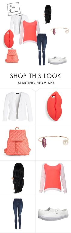 """""""School Outfit #2"""" by charlese-b on Polyvore featuring White House Black Market, STELLA McCARTNEY, LeSportsac, Gab+Cos Designs, Sandro, George, Vans, women's clothing, women's fashion and women"""
