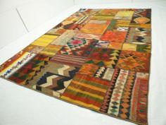 nr.77 Hochwertige original Designer patchwork Kelim Teppich Kilim ca.300x200 cm | eBay